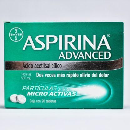 ASPIRINA ADVANCED 500MG TAB C/20 (ACIDO ACETIL SALICILICO)