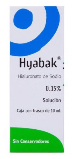HYABAK 0.15 SOLUCION FCO 10ML