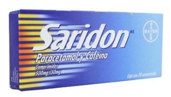 SARIDON 500/50MG COMPR C/20