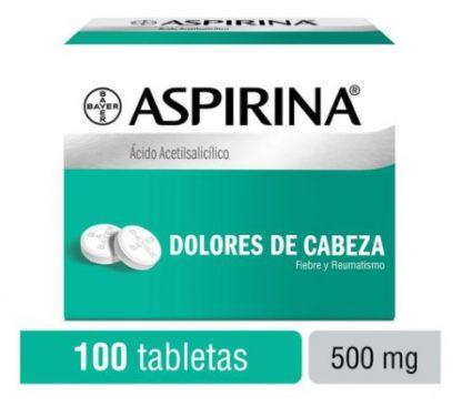 ASPIRINA 500MG TAB C/100
