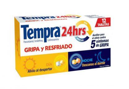 TEMPRA 24 HRS DIA/NOCHE TAB C/12