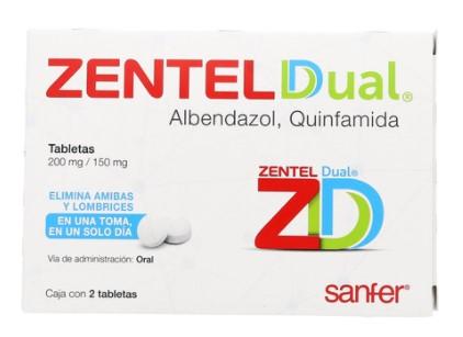 ZENTEL DUAL 200/150MG C/2 TAB
