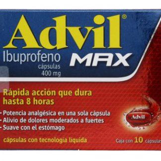 ADVIL MAX 400 MG C/10 CAP