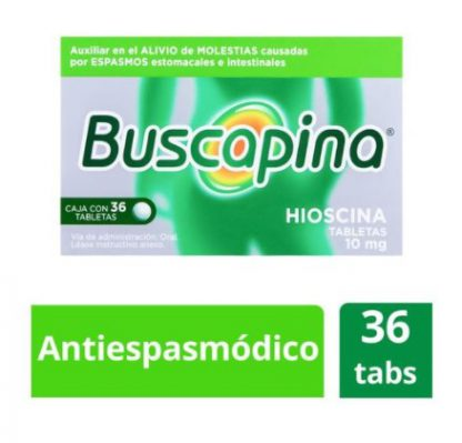 BUSCAPINA 10MG TABS C/36