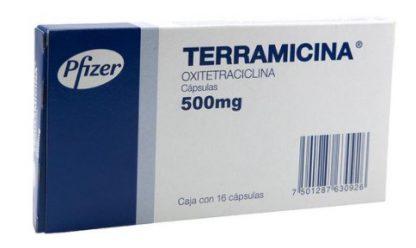 TERRAMICINA 500MG CAP C/16