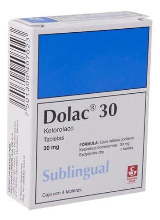 DOLAC 30MG TAB SUB C/4