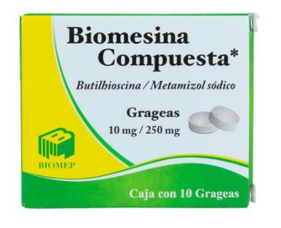 BIOMESINA GRAG COMP 10/250MG