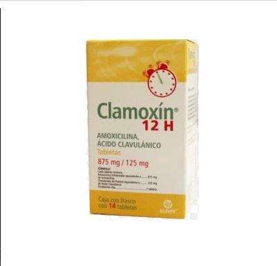 CLAMOXIN12H 875/125MG TAB C/14