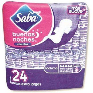 SABA BUENAS NOCHES C/ALAS C/24 TOALLAS
